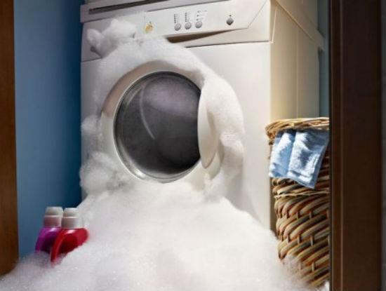 Máy giặt để trong phòng ẩm ướt dễ bị han gỉ