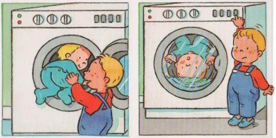 Những tai nạn có thể xảy ra với trẻ em khi dùng máy giặt Aqua