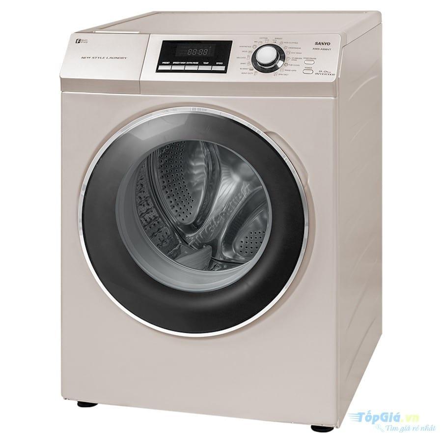 Thiết kế của máy giặt Sanyo đơn giản nhưng khá tinh tế, bắt mắt