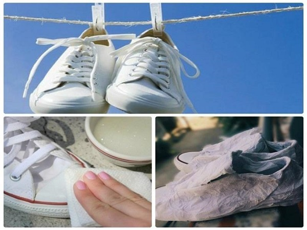 Giày được phơi khô tự nhiên sẽ giữ được màu sắc ban đầu và bền đẹp hơn