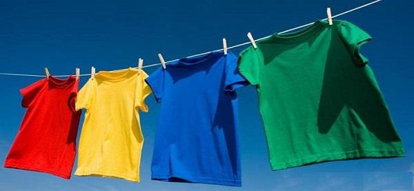 Phơi áo quần tại nơi có nhiều gió và nắng