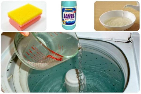 Cách vệ sinh máy giặt Sanyo cửa trên không sót một khe