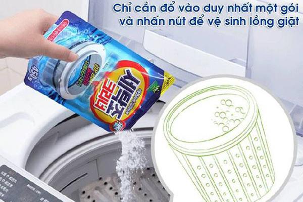 Tổng hợp các loại bột vệ sinh máy giặt được sử dụng nhiều hiện nay